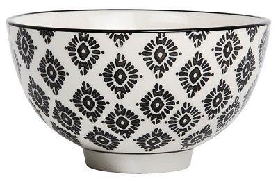 IB Laursen Schale Casablanca schwarz weiß Blumen Geschirr Keramik Schüssel