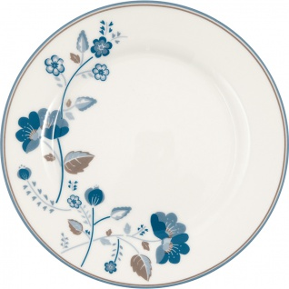 Greengate Teller MOZY Weiß Blau 20 cm Porzellan Kuchenteller Dessertteller