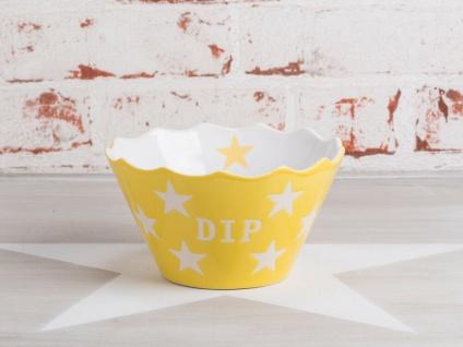 Krasilnikoff Dip Schale gelb Sterne weiß Stern Schüssel Keramik