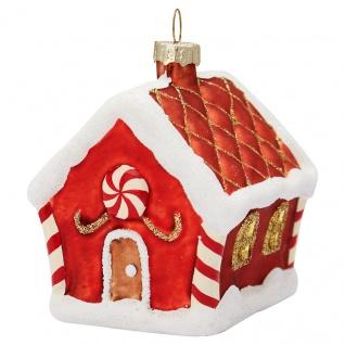 Greengate Tannenbaumhänger Lebkuchenhaus Rot Christbaumschmuck Weihnachtskugel