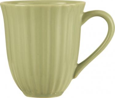 IB Laursen MYNTE Becher Rillen Grün HERBAL GREEN Keramik Geschirr Tasse 250 ml