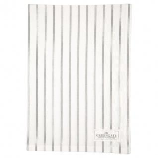 Greengate Geschirrtuch KAJSA Weiß mit Streifen Baumwolle 50x70 cm Handtuch
