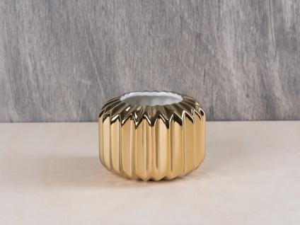 Bloomingville Votive Gold Teelicht Kerzenhalter Porzellan 5, 5 cm hoch 8 cm