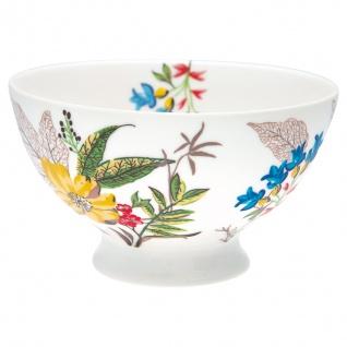 Greengate Schale ELLEN Weiß Blau Blumen Porzellan Geschirr Suppenschale 500 ml