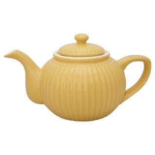 Greengate Teekanne ALICE Gelb Kanne 1 Liter Everyday Geschirr Teapot HONEY MUSTARD