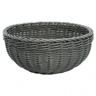 Greengate Brotkorb Grau Runder Korb aus Kunststoff 9x 22 cm