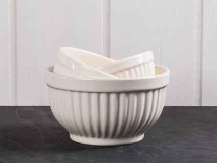 IB Laursen MYNTE Schalensatz Mini Creme Weiß 3er Keramik Schüsseln BUTTER CREAM