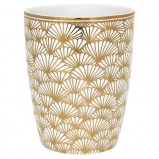 Greengate Latte Cup Jacqueline gold Gate Noir Becher
