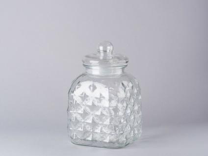 Bloomingville Vorratsdose Glas mit Deckel 25.5 cm Vorratsglas 3.400 ml
