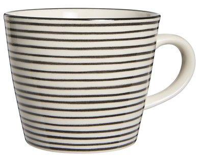 IB Laursen Tasse Casablanca schwarz weiß Streifen Keramik Geschirr Becher gestre