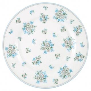 Greengate Teller NICOLINE Weiß Blau 20 cm Porzellan Geschirr Kuchenteller