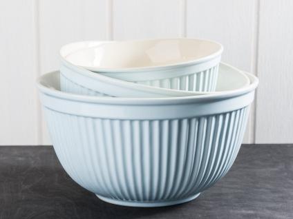 IB Laursen MYNTE Schalensatz Blau 3er Set Keramik Schüsseln STILLWATER Geschirr