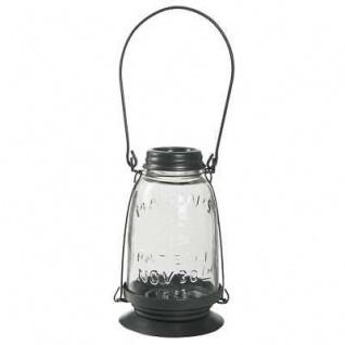 IB Laursen Laterne Glas/Metall dunkelgrau Windlicht Öllampe Look