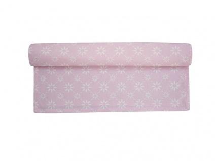 Krasilnikoff Tischläufer BLUME DIAGONAL Rosa weiß Tischdecke pink Blumen