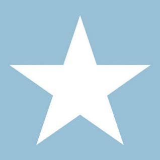 Ambiente Servietten STAR LIGHT BLUE 20 Stück blau STERN weiß 3-lagig hellblau 33