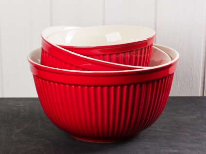 IB Laursen MYNTE Schalensatz Rot 3er Set Keramik Schüsseln STRAWBERRY Geschirr