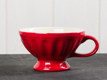 IB Laursen MYNTE Jumbobecher Rot Keramik Geschirr STRAWBERRY XL Tasse 300 ml