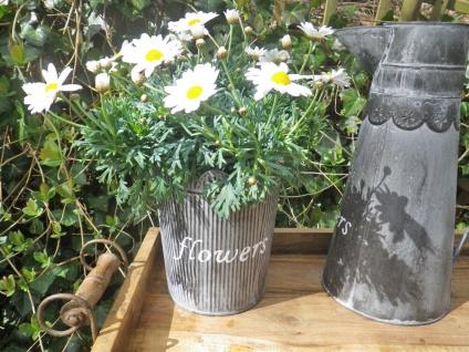 Pflanztopf Henriette 20 cm. Blumentopf Metall Vintage Antik Stil Pflanzentopf