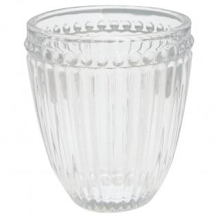 Greengate Glas ALICE Klar Wasserglas 300 ml Trinkglas Saftglas
