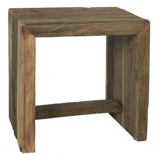 IB Laursen Hocker UNIKA Holz 35x45 cm Sitzhocker Unikat sehr stabil und schwer