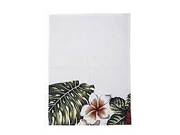 Bloomingville Geschirrtuch Aruba weiß mit Blüten Baumwolle 50x70 cm