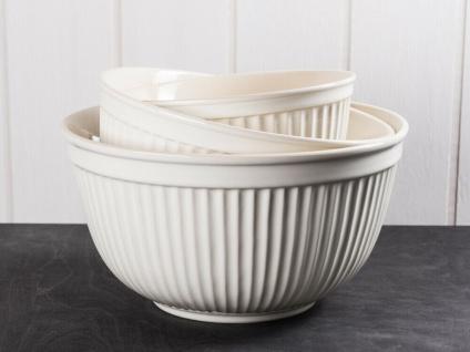 IB Laursen MYNTE Schalensatz Creme Weiß 3er Set Keramik Schüsseln BUTTER CREAM