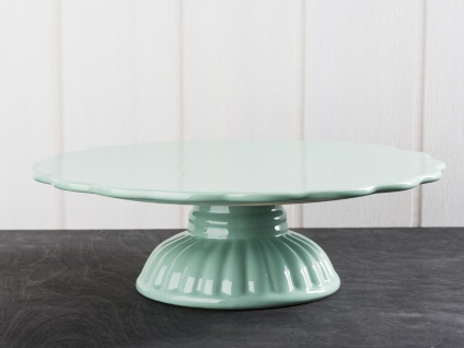 IB Laursen MYNTE Tortenplatte Grün Keramik Kuchenplatte GREEN TEA Geschirr