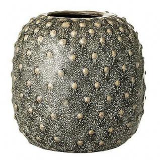 Bloomingville Vase grün Keramik Blumenvase 14 cm hoch 14 cm Durchmesser