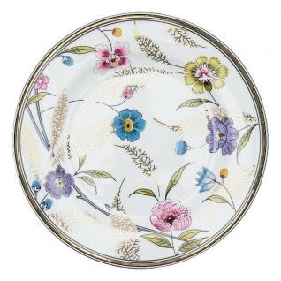 Greengate Teller TIPHANIE weiß Goldrand Gate Noir Blumen Kuchenteller Porzellan