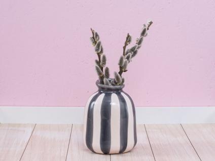 A Simple Mess Vase LYS Keramik Blumenvase SCHWARZ CREME 15cm Skandinavische Deko