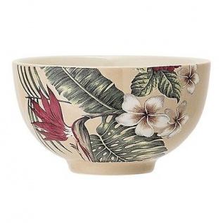 Bloomingville Schale Aruba mit Blumen Blüten Keramik Geschirr Schüssel
