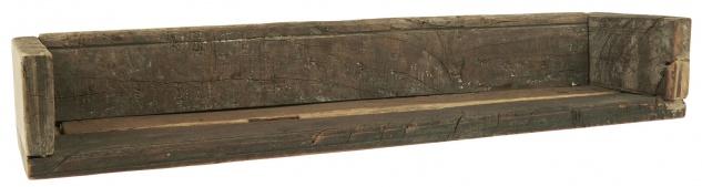 IB Laursen Regal UNIKA mit Kante 15x60 cm Massiv Holz Wandregal Unikat Holzregal