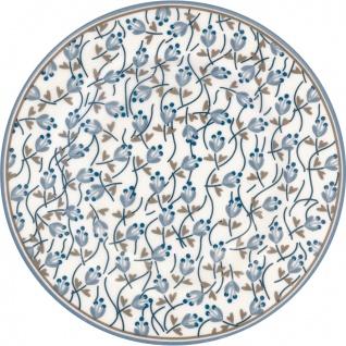 Greengate Teller ADDISON Weiß Blau 15 cm Porzellan Kuchenteller Dessertteller