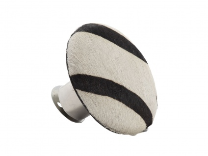 AU Maison Kleiderhaken Zebra Garderobenhaken 9 cm Wandhaken Fell Garderobe Haken
