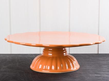 IB Laursen MYNTE Tortenplatte Orange Keramik Kuchenplatte PUMPKIN SPICE Geschirr
