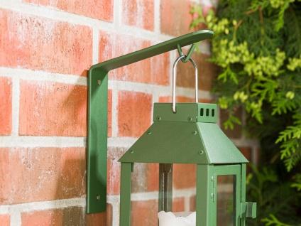 A2 Living Wandhalter Allwetter Laterne Metall Grün Verzinkt Laternenhalter