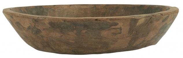 IB Laursen Holztrog Rund UNIKA Holz Tablett Unikat 40 cm Chapati Schale
