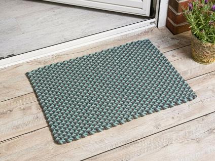 Pad In / Outdoor Matte POOL aqua türkis grau 52x72 Fussmatte Badezimmermatte