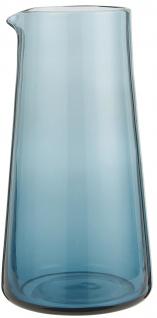 IB Laursen Kanne Glas Blau 1 Liter Krug 10x20 cm Karaffe blaues Glas