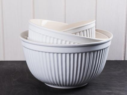 IB Laursen MYNTE Schalensatz Weiß 3er Set Keramik Schüsseln PURE WHITE Geschirr