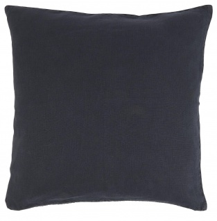 IB Laursen Kissenhülle Leinen Midnight Blue Blau 50x50 Kissenbezug Zierkissen