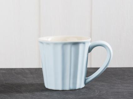 IB Laursen MYNTE Becher hellblau STILLWATER Tasse Keramik blau beige 250 ml