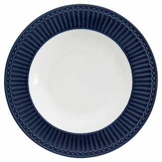 Greengate Tiefer Teller ALICE Blau Suppenteller Everyday Geschirr DARK BLUE