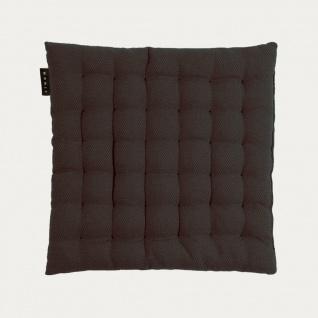 Linum Sitzkissen PEPPER SCHWARZ 40x40x3 cm Stuhlkissen mit Füllung Baumwolle