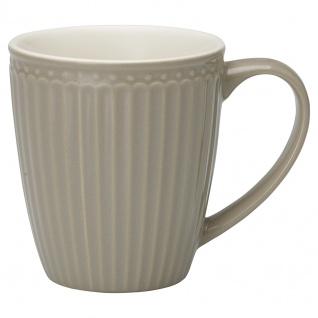 Greengate Becher ALICE Grau 400 ml Kaffeebecher Everyday Geschirr WARM GREY