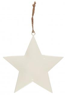 IB Laursen STERN Weiß 20x20 cm Metall mit Juteschnur zum Hängen Weihnachtsdeko