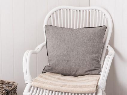 IB Laursen Kissenbezug schwarz/grau gewebt Kissenhülle Baumwolle 50x50