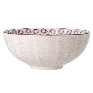 Bloomingville Schale MAYA Keramik Schüssel Geschirr Servierschale Rosa 1500 ml