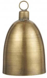 IB Laursen Glocke Gold Metall 12 cm Deko Hänger Weihnachtsdeko Geschenk Anhänger