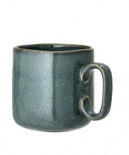 Bloomingville Becher AIME Blau Keramik Geschirr Tasse 4-eckig Kaffeebecher 450ml